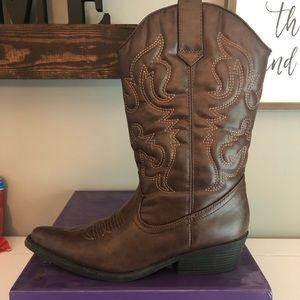 Steve Madden Brown Cowboy Boots Size 9.5